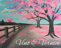 sip paint cherry blossom tree canvas casa larga