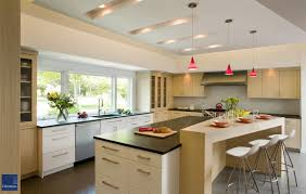 Kitchen Cabinets With Windows Kitchen Luxurious White Kitchen With Skylight Windows Also Small