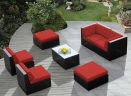 Newport Wicker Patio Furniture Wicker Patio Furniture Sets Clearance With Red Seat Cushions