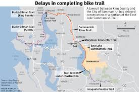 seattle map eastlake dispute stop signs delay in completion of east lake