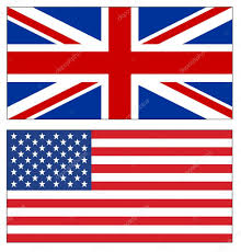 Usa Flag Vector Set Of Uk And Usa Flags On White U2014 Stock Vector Manae 128582306