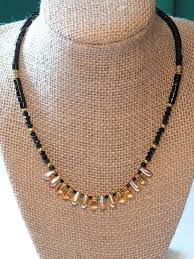 elegant black necklace images Elegant black and gold beaded necklace by desertbelles on zibbet jpg