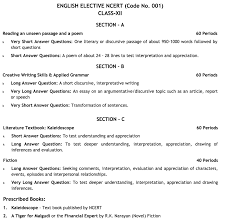 cbse class 12 english elective ncert syllabus for the academic