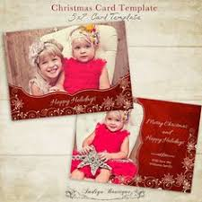 christmas card template photographer photography photoshop