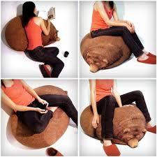 Household Furniture Comfy Beanbag Created In Sleeping Bear - Bear furniture