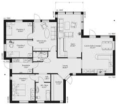 plan de maison 4 chambres plain pied plan maison plain pied en l chambres 9333 klasztor co