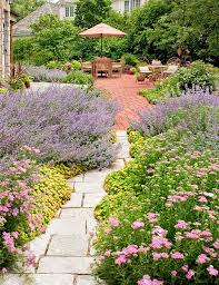 french country landscape traditional garden