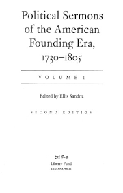 political sermons of the american founding era vol 1 1730 1788