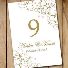 wedding table numbers template table number templates for word best table numbers templates