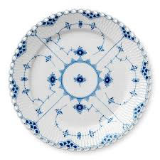 royal copenhagen blue fluted lace plates design