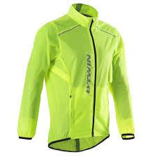 mtb rain jacket 100 cycling rain jacket lime decathlon