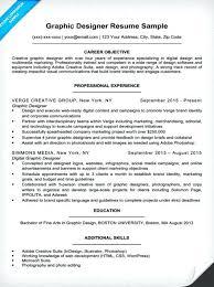 Graphic Design Resume Tips Graphic Artist Sample Resume Graphic Design Resume Example With