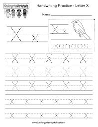 letter x worksheets for preschool kindergarten printable