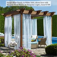 Drapery Panels With Grommets Escape Outdoor Sheer Grommet Panels