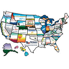 Magnetic Map Of Usa by States Sticker Brothers 100 Travel Accessories Camping World