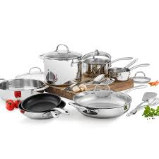 amazon com wolfgang puck stainless steel 18 pc cookware set