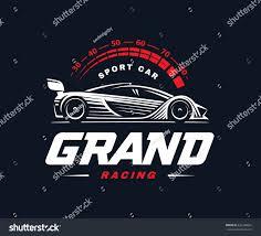 sports car logos sport car logo on dark background stock illustration 632248841