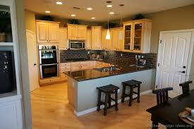Dark Floors Light Cabinets Kitchens With Wood Floors And Wood Cabinets Pecan Wood Flooring