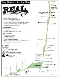 Map Of Outer Banks Cape Hatteras Real