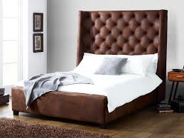 soft bed frame arthur faux leather bed living it up