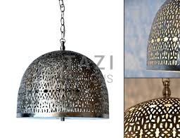 Moroccan Pendant Lights Moroccan Pendant Light Aaliyah Brushed Nickel Tazi Designs
