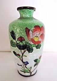 Antique Cloisonne Vases Antique Cloisonné Vase Miniature Cloisonné Vase 9cm Tall Circa
