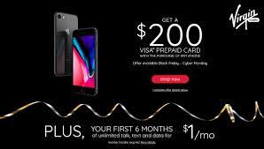 get a prepaid card get a 200 visa prepaid card six months of service for six bucks