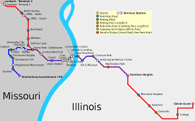 St Louis Metro Map by File Stl Metrolink Schematic Svg Wikimedia Commons
