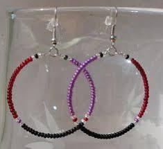 Black Bead Earrings Bronze Chandelier Handmade Boho Festive Gypsy Black Beads Chandelier Tassel Silver
