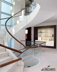 Indoor Handrails For Stairs Contemporary Best 25 Glass Stair Railing Ideas On Pinterest Glass Stairs