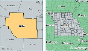 missouri map by population miller county missouri map of miller county mo where is