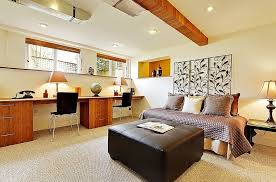 home office in bedroom how to transform an old basement into a chic and functional home