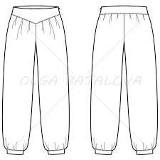 women u0027s harem pants fashion flat template u2013 illustrator stuff
