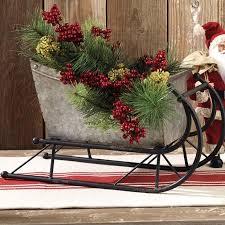 decorative metal sleigh antique farmhouse