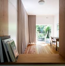 floor to ceiling curtains home office contemporary with fold out
