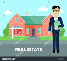 real estate broker work real estate stock vector 524339692