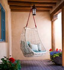 wicker chair hanging from ceiling home chair decoration