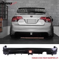 honda civic spoiler brake light fits 06 11 civic 4dr sedan rear bumper lip spoiler with led 3rd