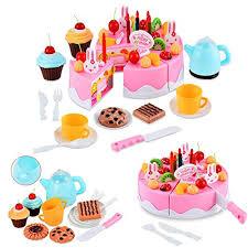 jeux de cuisine de gateaux d anniversaire itian 54 pcs diy alimentaire jeu jouet pour enfants bébés set du