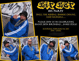 80 party invitations creative productions hip hop 80 u0027s party