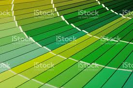 closeup of green paint color chart fan deck stock photo 91509507