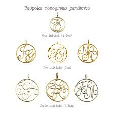 monogram pendants 9ct solid gold monogram pendant by sibylle de baynast jewels