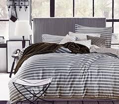 White Twin Xl Comforter Classic Gray Stripes Twin Xl Sheet Set