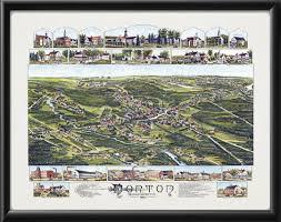 map of northton ma vintage city maps bird s eye view map of norton massachusetts 1891