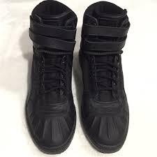 puma sky ii hi duck boot mens black leather high top lace up