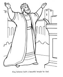 coloring page for king solomon king solomon built a beautiful temple fro god coloring page netart