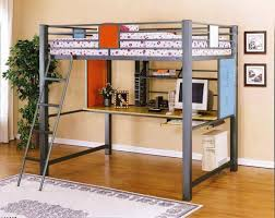 bedroom wooden queen size loft bed frame with drawers and mattress