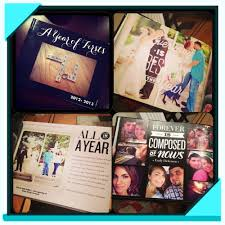 create a book filled with memories of your year as husband