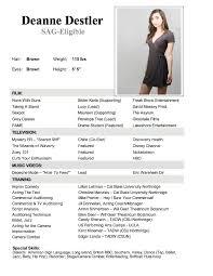 Best Looking Resume Format by Pretty Looking Actors Resume Template 6 Free Acting Resume Samples