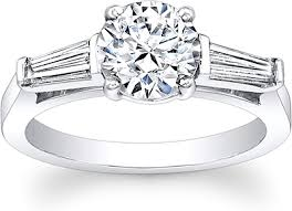 engagement rings with baguettes tapered baguette engagement ring scs1278c